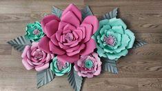 3D Çiçek Modeli Yapımı , , Kağıt çiçek şablonları kullanarak evde kendiniz kağıttan dev gül yapımı yapabilirsiniz. Tarifi detaylı bir şekilde anlatılıyor. Ev deko...