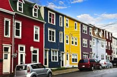 Colorful Houses In St Johns Newfoundland By Elena Elisseeva Fineartamerica