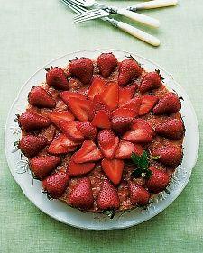 Almond Macaroon Galette with Strawberries Recipe | Martha Stewart