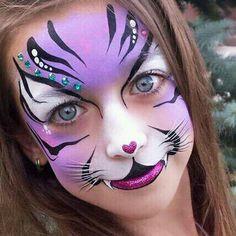40 Easy Tiger Face Painting Ideas for Fun - Kinderschminken - Accesorios para Maquillaje Face Painting Tutorials, Face Painting Designs, Paint Designs, Painting Templates, Girl Face Painting, Painting For Kids, Body Painting, Easy Face Painting, Easy Paintings