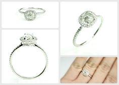 Stunning natural raw diamond engagement ring. www.diamondintherough.com