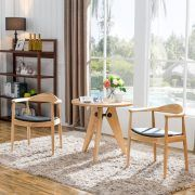 Nordic Modern Simple Home Furniture Dining Room Resturant Kitchen Reception Solid Wood Leather Chair Cheap Dining Chairs, Dining Table In Kitchen, Leather Living Room Furniture, Dining Room Furniture, Hans Wegner, Furniture Sale, Quality Furniture, Living Room Sets, Home Living Room