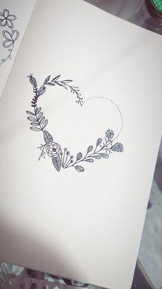 #bulletjournal #flores #coracao #guirlanda #ideias Bullet Journal, Pretty Designs, Body Art Tattoos, Coloring Books, Tattoo Ideas, Doodles, Ink, Logo, Ohana Tattoo