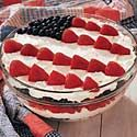 This is no bake cheese cake recipe with berries to salute the red, white and blue.