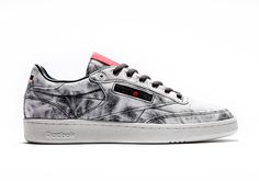 The Kendrick Lamar Reebok Club C will release on January 13th, 2017 in adult and kids sizes featuring a black and white acid washed upper with red accents.