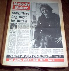 Melody Maker Magazine 1971 The Band Thin Lizzy John Entwistle Bee Gees Vintage Classic Rock & Roll Music UK 70's