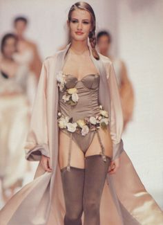 Karen Mulder for Chantal Thomass (early 90s)
