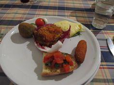 Sicilian antipasto - Castella Della Rosa - Caltigirone, Sicily