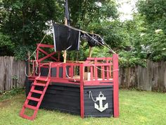 Building a pirate playhouse on pinterest 21 pins for Cost to build a playhouse