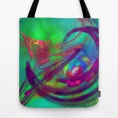 Fractal art Tote Bag by Jean-François Dupuis - $22.00