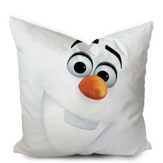Frozen Olaf 3D Face Pillowcase  https://www.artbetinas.com/collections/square-pillow-case/products/olaf-3d-face-square-pillow-cover-pillow-case-cushions-pillow-cover-home-decor-pillow-bed-pillow-bedding-housewares