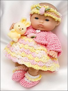 Ravelry: Spring Set for 5 Inch Berenguer Baby Doll pattern by Amy Carrico