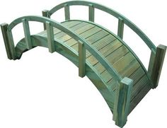 """SamsGazebos Decorative Japanese Wood Garden Bridge, 29""""L x 12-1/2""""H x 12-1/8""""W, Treated, Assembled, Made in USA by SamsGazebos. $99.95. Gracefully arched Japanese garden bridges for any yard.. For decorative use only.  (Footbridges are also available in 4', 5', or 6' long on Amazon.). Treated with semi-transparent green wood preservative, ready to finish, or leave natural for a rustic look.. Made in the USA, superb workmanship, and labor of love.. Shipped assembled and gre..."""