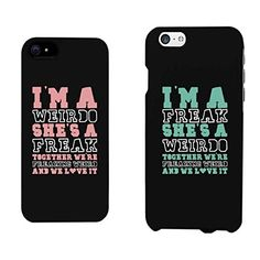 Funny BFF Phone Cases - Freak and Weirdo Phone Covers for Apple iphone 4, iphone 5, iphone 5C, iphone 6, iphone 6 plus, Samsung Galaxy S3, Galaxy S4, Galaxy S5, Galaxy S6, Note 4, HTC M8, LG G3:Amazon:Cell Phones & Accessories