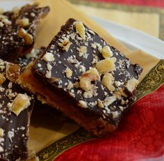 Easy Toffee Candy | From Valerie's Kitchen