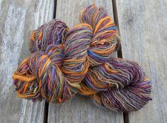 Handspun Yarn, Energized Yarn, S and Z Twist Skeins Included, 12 wpi, Sport, Total Yardage 334