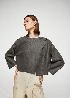 Giacca lana bottoni | MANGO