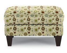 Demi Ottoman - Official La-Z-Boy Website; Fabric, Color - Mink