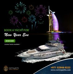 What's Your Plan For This New Year Eve ? #CozmoYachts ~ Offering Amazing #YachtCharter Package to Make This #NewYearEve Special For You. Watch the best #fireworks of the #world from luxury yacht at #DubaiMarina #dubaicruise #dubaiboat #dubaiyacht #luxuryyachts #newyeareve #newyear #dubainewyearcruise #dubaimarine #dubaiboatclub #dubainewyear2018 #newyear2018 #happynewyear #event #night #party #yacht #drink #dinner #on #boat #dinneronayacht #partonayacht #luxuryyacht