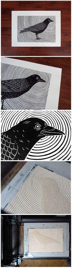Crow on Behance
