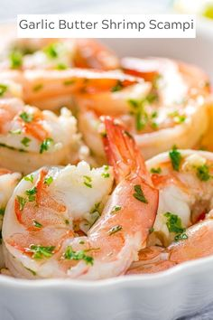 Who doesn't love a dish that tastes as amazing as garlic butter shrimp scampi and takes just 15 minutes to prepare? Serve this easy dish over pasta or with a loaf of crusty bread to sop up the delicious sauce. How To Cook Shrimp, How To Cook Pasta, Crockpot Recipes, Cooking Recipes, Easy Recipes, Potted Shrimp, Shrimp And Vegetables, Incredible Recipes, Amazing