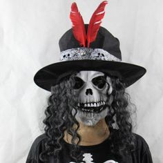 Scary Halloween earl Hat Skull Face Mask Scared for Costume Party Dress Carnival * Read more reviews of the product by visiting the link on the image.