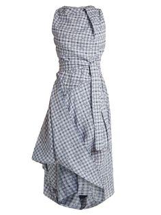 Vivienne Westwood Anglomania Gingham asymmetric dress