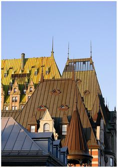 Sun on the roofs - Quebec, Canada