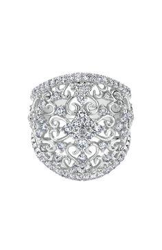 14k White Gold Mediterranean Fashion Ladies' Ring