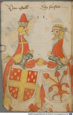 Ortenburger Wappenbuch Bayern, 1466 - 1473 Cod.icon. 308 u  Folio 34v