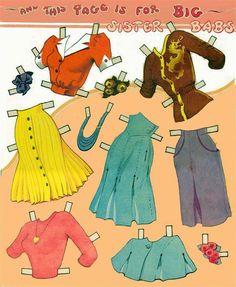 Vestiti per bambole di carta. Ricordi d'infanzia.. :)