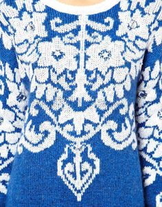 Folk folklore fashion patterned sweater - I would wear this constantly!!