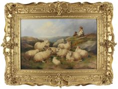John C. Morris Antique Large Fine Original Oil Painting Sheep Dog Country Signed Sheep Paintings, Morris, Art Projects, Eye Candy, Watercolor, Chalkboards, Pets, Antiques, Modern