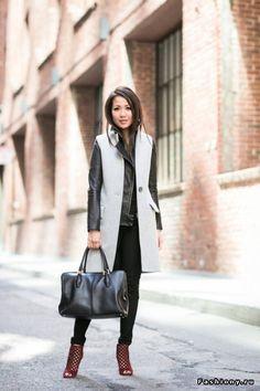 City Layers :: Sleeveless vest Top :: Intermix vest, J Brand jacket (old,  similar here & here) Bottom :: Banana Republic Bag :: Tod's Shoes :: Jimmy  Choo ...