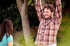 Chris Pratt as Andy in Parks and Rec