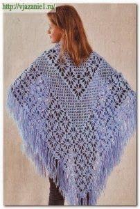 TRICO y CROCHET-madona-mía: Chal a crochet con patrón Crochet Cardigan, Crochet Scarves, Crochet Clothes, Tunisian Crochet, Crochet Stitches, Knit Crochet, Crochet Prayer Shawls, Crochet Shawls And Wraps, Shawl Patterns