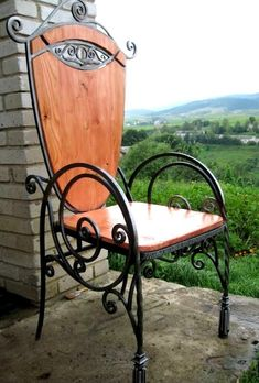 Home & Decor Iron Furniture, Steel Furniture, Living Furniture, Industrial Furniture, Custom Furniture, Wrought Iron Chairs, Metal Chairs, Cool Chairs, Wood And Metal