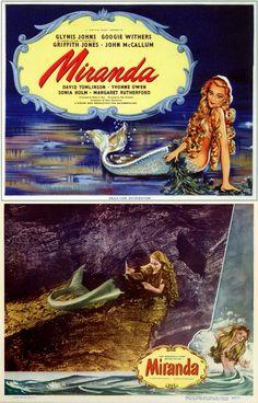 Miranda starring Glynis Johns Loved it! Mermaid Cove, Mermaid Art, Fantasy Creatures, Sea Creatures, Mermaid Pictures, Mermaid Pics, Glynis Johns, Bottomless Girls, Cinema Posters