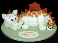 Adorable baby dragon cake made by The London Cake Company, Ltd. in North London, England....