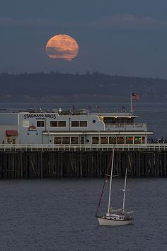 Moonrise on the Bay https://www.facebook.com/bruce.frye.photography