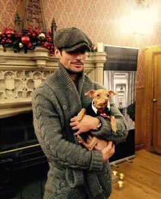 #TBT - David Gandy and Tuna The Dog at the Battersea Dogs & Cats Home Christmas Carol Concert on St. Luke's Church in London