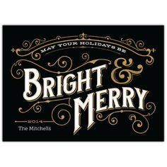 Bright & Merry Ornate   2014 Holiday Collection #InkCards