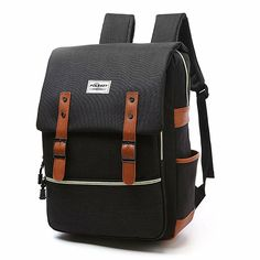 f42750b4dcd7 Vintage Laptop Backpack Canvas College Backpack School Bag Fit for 15 Inch   fashion  clothing