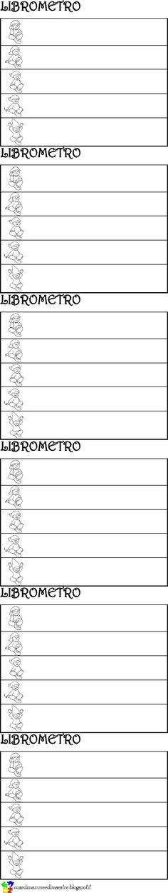 Un libretto che funge da tessera personale per il prestito dei libri della biblioteca scolastica: oltre al titolo e alla data del prestito, l'alunno può assegnare un punteggio di gradimento da 1 a 5