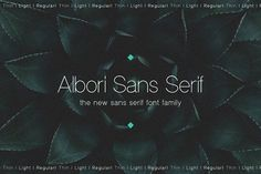 Ad: Albori Sans-Serif by Artcoast Std. on Designed by Dmitry Mashkin in June Albori is a new contemporary OpenType font family with modernity and versatility in mind. Sans Serif Fonts, All Fonts, Script Fonts, Business Brochure, Business Card Logo, Business Flyer, Mockup Creator, Envato Elements, Trendy Tree