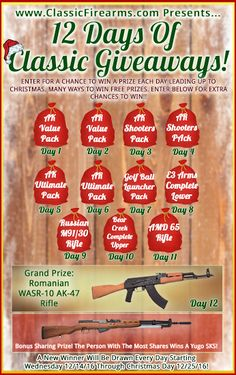 Win an AK-47 Rifle !!!  In the 12 Days Of Classic Giveaways  at  https://wn.nr/N9PPxb