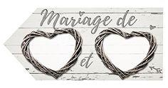 Grande Flèche directionnelle mariage Romantica naturelle: Amazon.fr: Cuisine & Maison