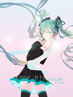 Vocaloid - Miku Hatsune (初音 ミク) - Happy Birthday! 8/31 -「まとめ~~」/「♡よつば♡」の漫画 [pixiv]