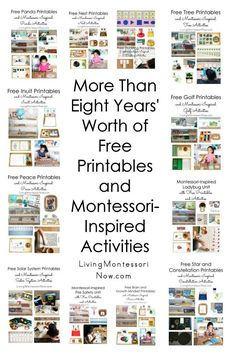 Tips for preparing themed Montessori shelves for toddlers, preschoolers, and children through early elementary. Montessori themed ideas throughout the year - Living Montessori Now Montessori Homeschool, Montessori Classroom, Homeschool Kindergarten, Preschool At Home, Montessori Toddler, Montessori Activities, Online Homeschooling, Montessori Elementary, Free Printables For Preschool