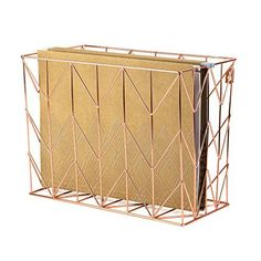 Give your office an authentic, sophisticated feel with the Copper Wire Hanging File Basket. With its copper wire construction that can fit infinite color palettes, this basket gives your desk a unique touch while keeping your stuff organized.